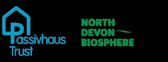passivhaus trust logo and north devon biosphere